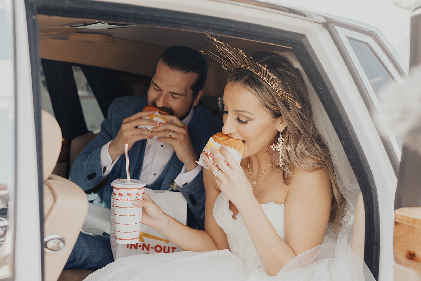 Amy + Kevin Strong at In N Out